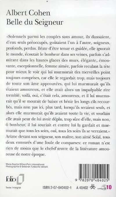 Albert cohen belle du seigneur la rencontre [PUNIQRANDLINE-(au-dating-names.txt) 69